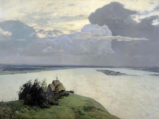 обои Над вечным покоем. 1894, холст, масло, 150х206 см фото