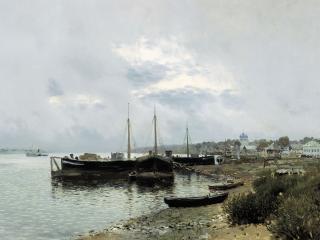 обои После дождя. Плес. 1889, холст, масло, 80х125 фото