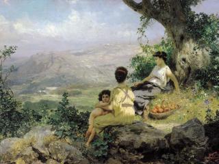 обои Отдых. 1890. Холст, масло. 51х81 см фото