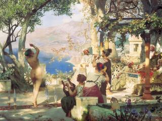 обои Танец среди мечей. 1881. Холст, масло. 120х225 см фото