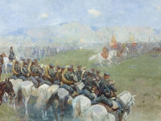обои Смотр войск Александром III. 1893. Холст, масло фото
