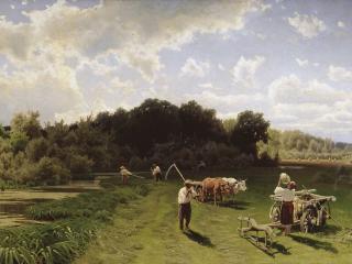 обои Сенокос. 1887. Холст, масло фото