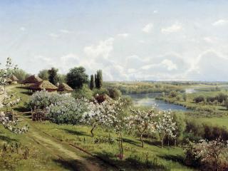 обои Яблони в цвету. В Малороссии. 1895. Холст, масло фото