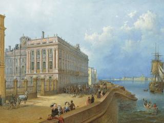 обои Вид набережной и Мраморного дворца фото