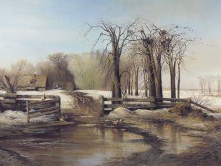 обои Весенний день. 1873, холст, масло, 95х140 фото