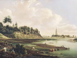 обои Вид Звенигорода. Вторая четверть XIX века фото