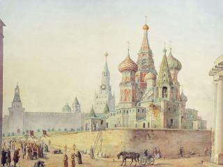 обои Храм Василия Блаженного. 1830—1840-е фото