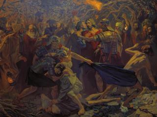 обои Попов. Взятие Христа под стражу фото