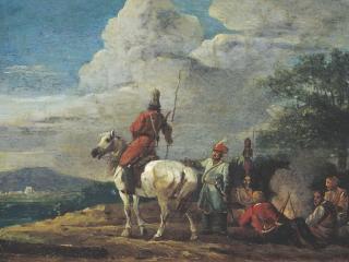 обои Ночной бивуак казаков. 1809 фото