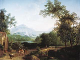 обои Итальянский пейзаж. 1806 фото