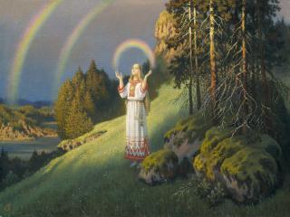 обои Волхова с радугой. 2002 фото