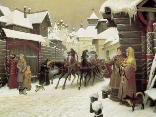 обои Городская улица XVII века. 2004 фото