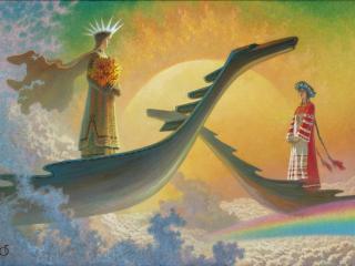 обои У небесного причала. 1988 фото