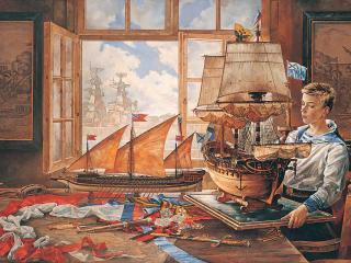 обои Мечты о флоте. Холст, масло, 160 х 230 см, 1996 г фото
