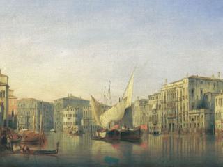 обои Вид Венеции. 1851 фото