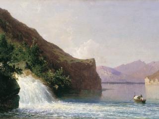 обои Водопад. 1867, холст, масло, 36х59 фото