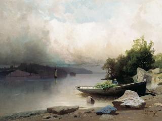 обои На реке. 1898. Холст, масло фото