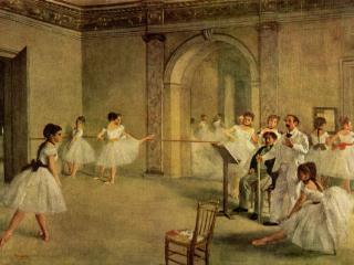 обои Балетный класс Оперы на улице Пелетье фото
