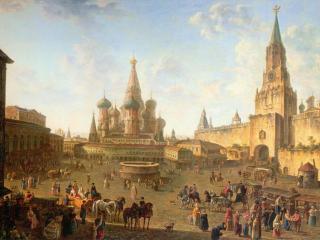 обои Алексеев Федор Яковлевич-Красная площадь в Москве фото