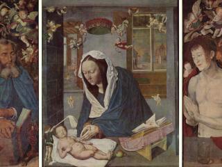 обои Алтарь Девы Марии, центральное изображение и створки, общий вид фото