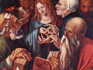 обои Двенадцатилетний Христос среди книжников фото