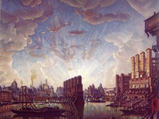 обои Порт воображаемого города фото