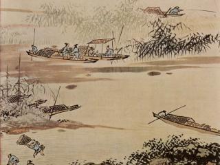 обои Рыбаки на реке фото