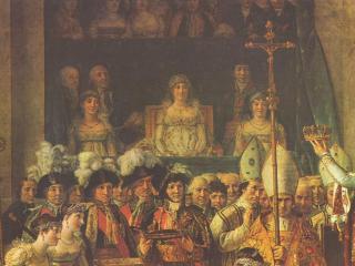 обои Жак - Луи Давид-Коронация Наполеона I и императрицы Жозефины. Фрагмент фото
