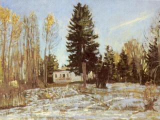 обои Старая усадьба зимой фото