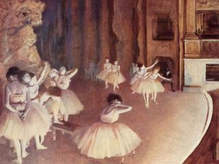обои Генеральная репетиция балета на сцене фото