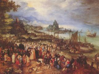 обои Христос проповедует на озере фото
