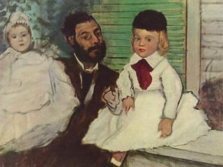 обои Эдгар-Жермен - Илер Дега-Портрет графа Лепика и его трёх дочерей фото