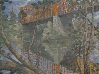 обои Красный мост фото