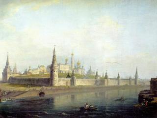 обои Вид московского Кремля (со стороны Каменного моста) фото