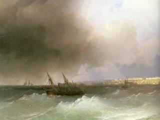 обои Вид Одессы с моря фото