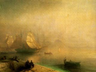 обои Неаполитанский залив в туманное утро фото