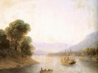 обои Река Риони. Грузия фото