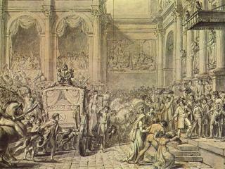 обои Жак - Луи Давид-Прибытие Наполеона в ратушу фото