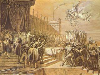 обои Жак - Луи Давид-Раздача орлов фото