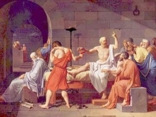 обои Жак - Луи Давид-Смерть Сократа фото