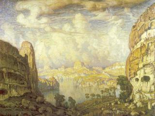 обои Богаевский Константин Федорович-Южная страна. Пещерный город фото