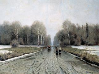 обои Ранняя весна. 1885. Холст, масло. 74х105 см фото