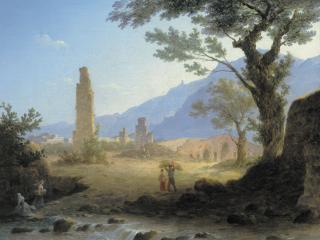 обои Итальянский пейзаж. 1847 фото