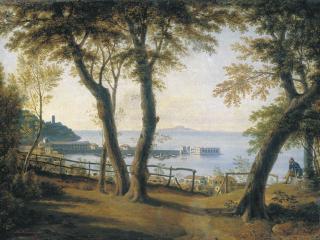 обои Приморский вид в Италии. 1840-е фото