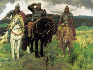 обои Богатыри . 1898, холст, масло, 295х446 см фото