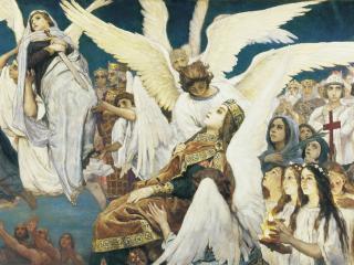 обои Радость праведных о Господе. Триптих, (правая часть) фото