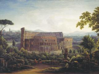 обои Вид Рима. Колизей. 1816 фото
