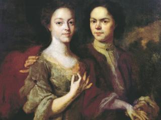 обои Автопортрет с женой Ириной Степановной. 1729 фото
