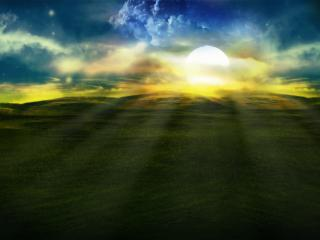 обои Рассветное солнце фото