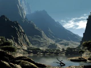 обои Горный пейзаж фото